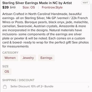 Frontrow.style Jewelry - Real Sterling Silver Earrings 22k/18K Gold Vermeil